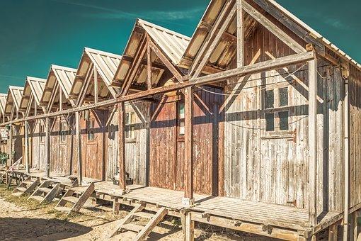 Fisher Hut, Wooden, Sea, Ocean, Shore, Fishing
