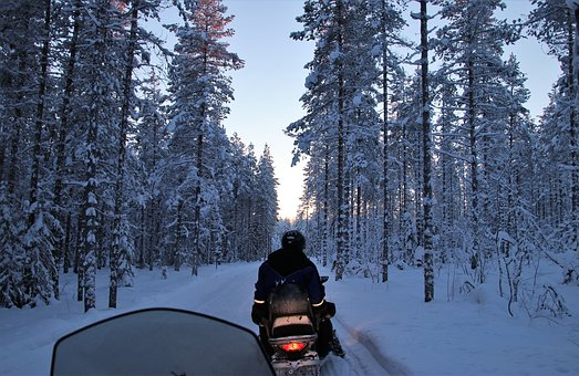 Scooter, Snow, Cold, Frost, Lapland, Wind, Winter