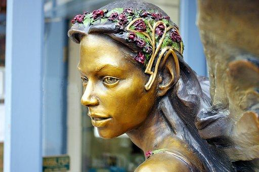 Voice In The Forest Bronze, Bronze, Fairy, Statue