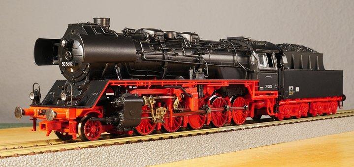 Model Railway, Scale H0, Steam Locomotive, Einheitslok