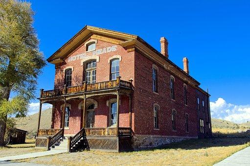 Bannacks Hotel Meade, Montana, Usa, Bannack, Ghost Town
