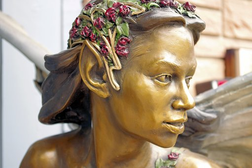 Voice In The Forest Sculpture, Bronze, Fairy, Statue