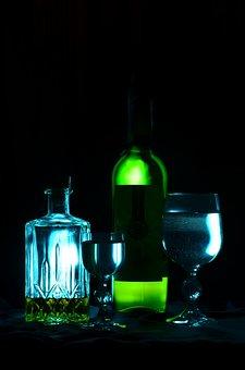 Alcohol, Bottle, Wine, Glass, Whiskey, Cognac, Decanter