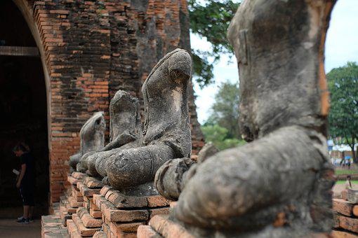 Thailand, Buddha Statue, Ancient, Statue