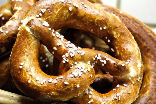 Pretzels, Laugenbreze, Pretzel, Baked Goods, Crispy