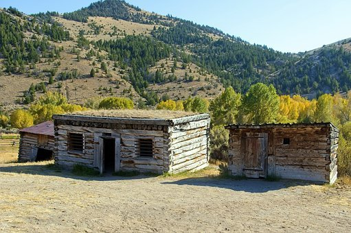 Bannack Jail, Montana, Usa, Bannack, Ghost Town
