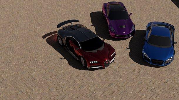 Cars, Bugatti, Chiron, Chevrolet, Corvette, Stingray