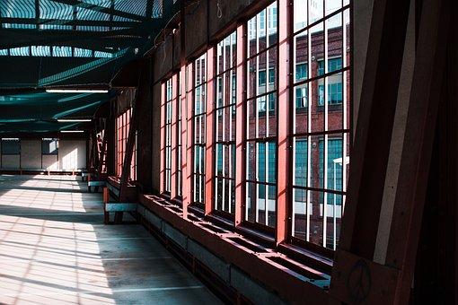 Library, Building, Architecture, Glass, Shelf, Window