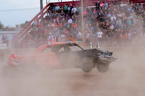 Demolition Derby, Cars, Crash, Wreck, Derby, Automobile