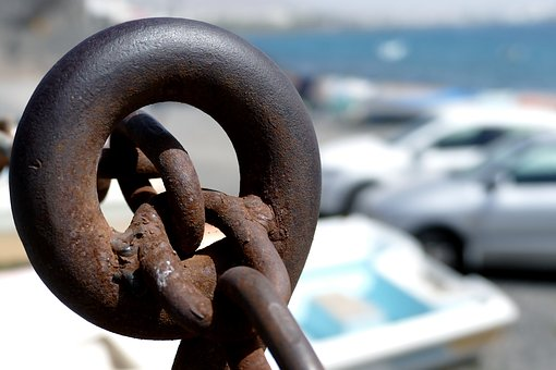 Chain, Hawser, Ear, Rust, Metal