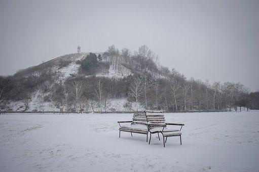 Bench, Snow, Winter, Alone, Cold, Frost, Lonely, Frozen