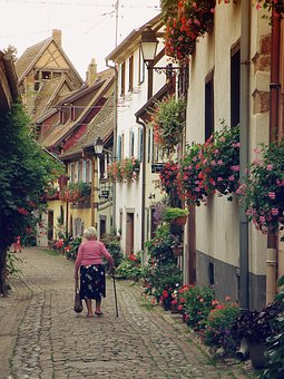 Alsace, France, Historical Romantic Street