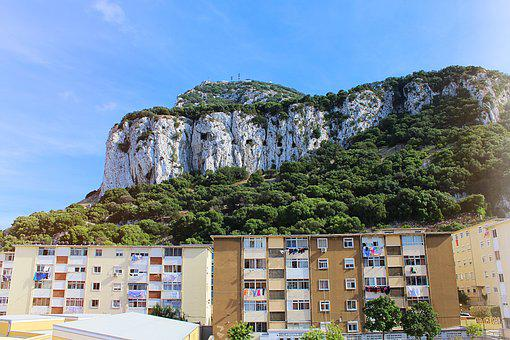 Gibraltar, Rock, Mountain, Monkey, England, Coast