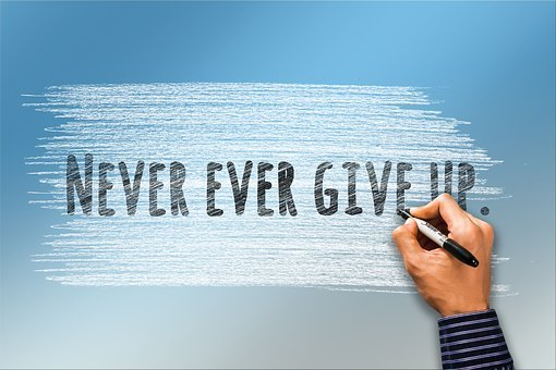 Never, Give Up, Auto Task, Continue, Perseverance