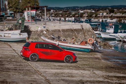 Vw, Golf, Gti, Volkswagen, Sea, Power, Motor, Vehicle