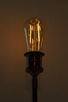 Idea, Pear, Light Bulb, Energy, Current, Electric