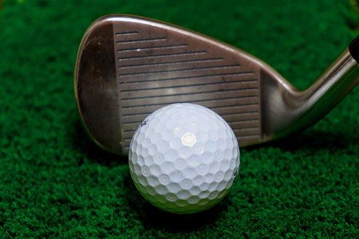 Golf, Ball, Club, Iron, Intact, Just Meet, Green