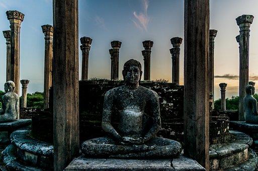 Stone Statue, Lord Buddha, Heritage, Sri Lanka