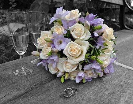 Wedding, Ring, Romantic, Love, Roses, Romance, Floral