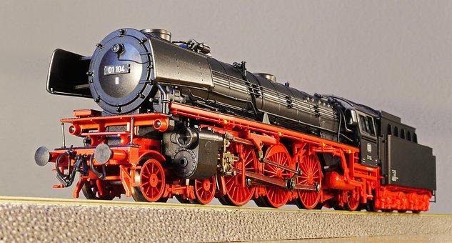 Steam Locomotive, Model, Model Railway, Scale H0, Toys