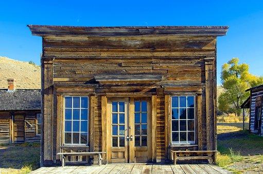 Assay Office In Bannack Montana, Montana, Bannack