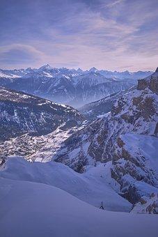 Mountains, Winter, Snow, Country, Mountain, The Sky