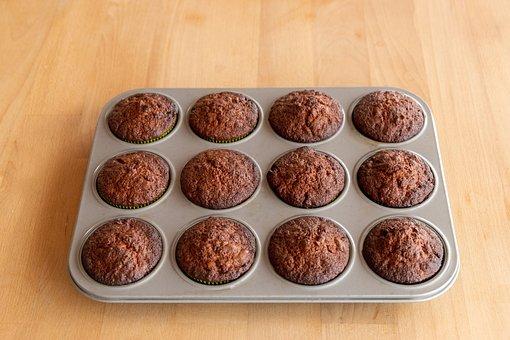 Muffins, Sheet, Dessert, Sweet, Baked Goods, Delicious