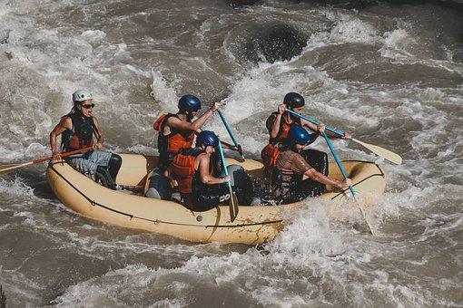 Adventure, River, Rafting, Kayak, Landscape, Nature