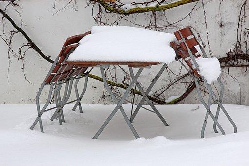 Stammtisch, Snowed In, Beer Garden, Garden, Out