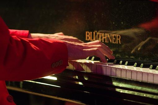 Piano Player, Pianist, Hands, Keys, Piano, Music