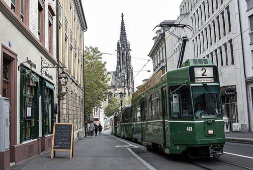 Tram, Basel, Public, Transport, Urban, Road, Traffic