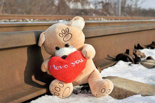 Teddy Bear Crying, Stop Youth Suicide, Snow, Winter