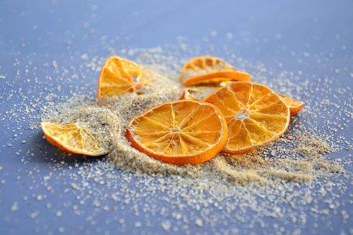 Oranges, Citrus, Orange, Wedges, Sugar, Vanilla Sugar