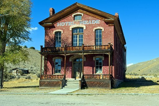 Meade Hotel, Montana, Usa, Bannack, Ghost Town