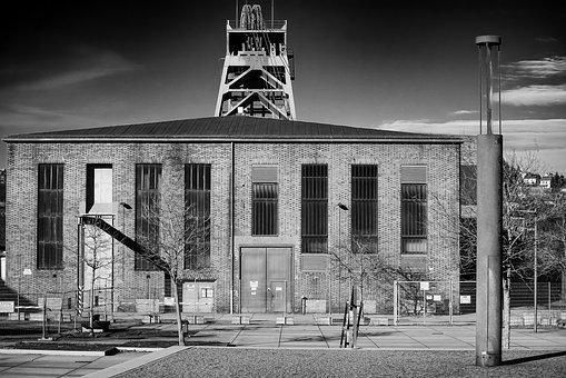 Mining, Hall, Factory, Industry, Wall, Architecture