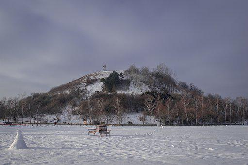Winter, Hill, Landscape, Nature, Snow, Cold, Sky