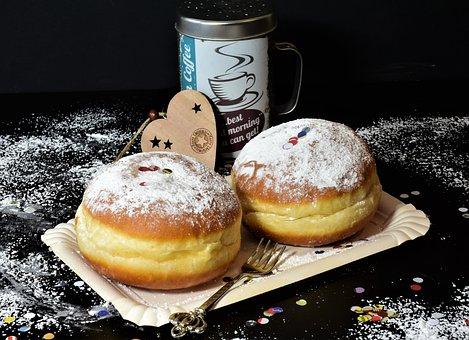 Donut, Sweet Dish, Dessert, Dough, Berlin, Food, Eat