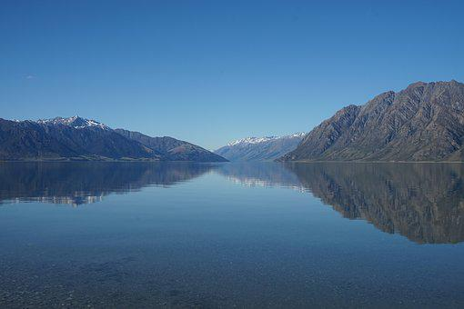 New Zealand, Nature, Lake, Serenity, Blue, Mirror Lake