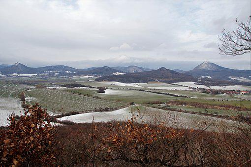 Czech, Central Mountains, Landscape, Panorama, Winter