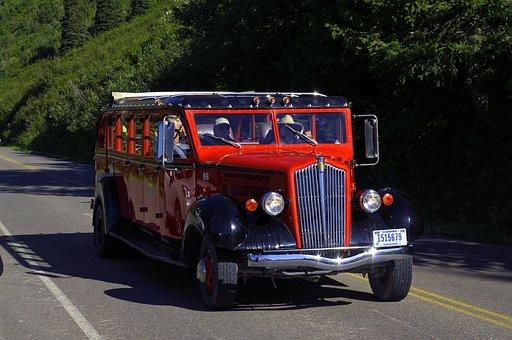 Red Jammer, Bus, 1937, Oldtimer, Classic, Nostalgia