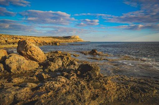 Cyprus, Cavo Greko, Rock, Cape, Coastline, Rocky Coast