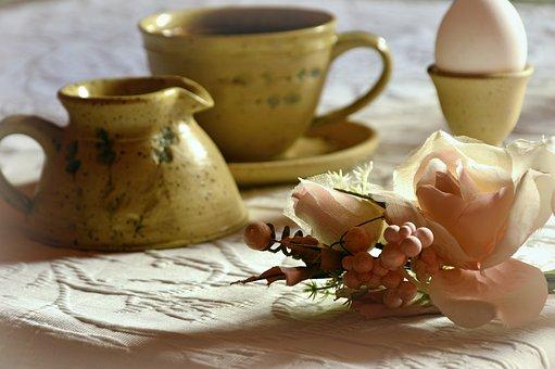 Still Life, Breakfast Table, Coffee, Coffee Cup