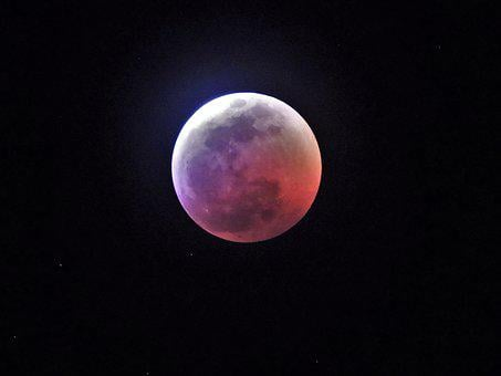 Lunar, Eclipse, Moon, Blood Moon, Wolf Moon