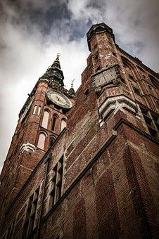 Gdańsk, Clock, The Town Hall, Building, Tourism