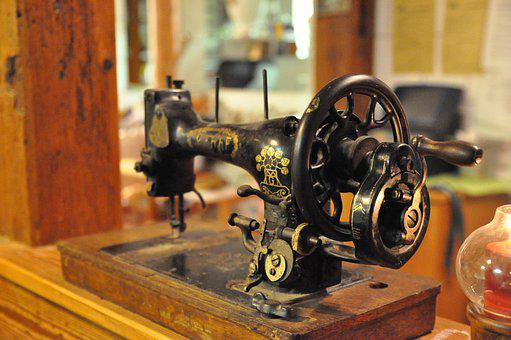 Sewing Machine, Oldtimer, Rarity, Historically