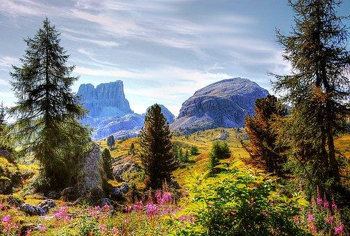Monte Averau, Dolomites, Italy, Mountain Group