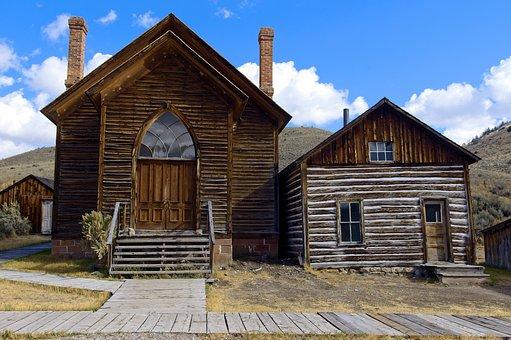 Bannack Church And A House, Montana, Bannack