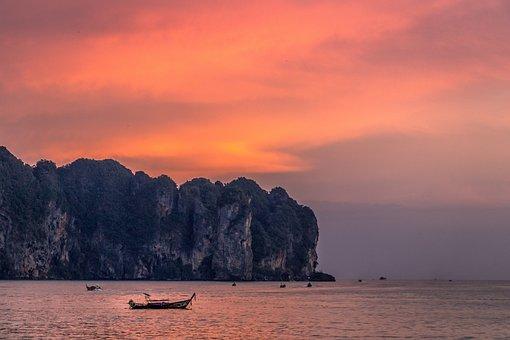 Thailand, Krabi, Sky, Nature, Island, Summer