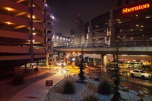 Architecture, Building, Modern, Night, City, Facade