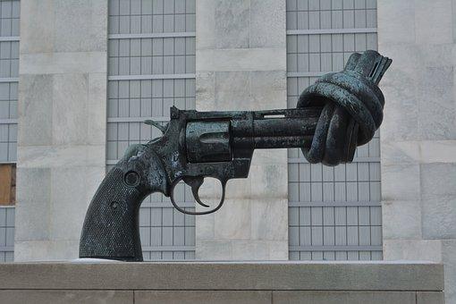 Gun, United Nations, Violence, Nyc, Sculpture, Handgun